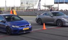 Bu Yarış Kaçmaz: VW Golf 7 R – BRABUS GLE63 S AMG – Nissan GT-R