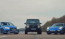 Hangisi Geçer? Audi RS3 – Mercedes-AMG G63 – Porsche Cayman GTS