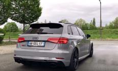 606 PS'lik HGP Audi RS3 Sportback Hızlanması