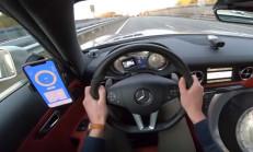 1025 Beygirlik Mercedes SLS AMG'nin Hızlanmasını İzleyelim
