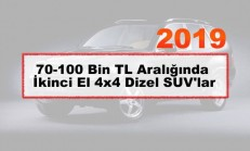 70-100 Bin TL Aralığında İkinci El 4×4 Dizel SUV'lar (2019)