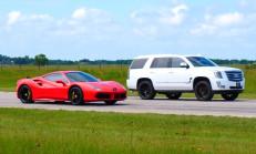 Hangisi Geçer? Hennessey Cadillac Escalade – Ferrari 488