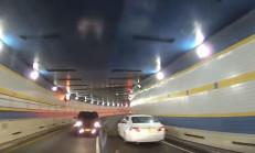 Tünel de Ters Yöne Girince Kaza Kaçınılmaz Oldu