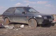Lada Samara'ya Jant Olarak Rögar Kapağı Taktılar