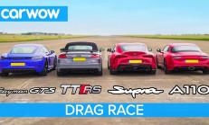 Hangisi Geçer? Toyota Supra – Porsche Cayman GTS – Audi TT RS – Alpine A110