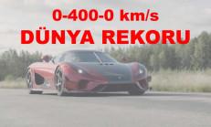 Koenigsegg Regera, 0-400-0 km/s Rekorunu Kırdı