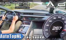 Yeni Audi A8 (55 TFSI)'in Otoban'da 0-267 km/s Hızlanması