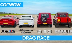 Hangisi Geçer? BMW X4M – Mercedes-AMG G63 – Porsche Cayenne Turbo – Bowler Bulldog V8