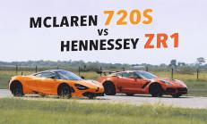 Hangisi Geçer? McLaren 720S – Hennessey Corvette ZR1