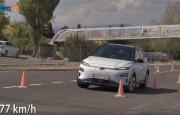 Elektrikli Hyundai Kona Geyik Testine Girdi