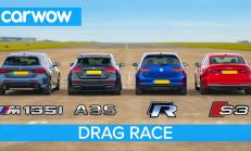 Hangisi Geçer? Yeni BMW M135i – Mercedes-AMG A35 – Audi S3 – VW Golf R