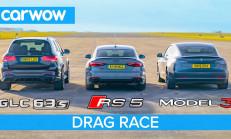 Hangisi Geçer? Tesla Model 3 – Audi RS5 – Mercedes-AMG GLC63