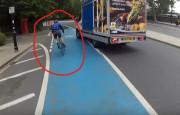 Dikkatsiz Kamyonet Sürücüsü, Bisikletliye Çarptı