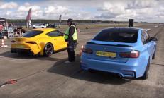 Drag: Toyota Supra MK5, Audi RS3 ve BMW M3'e Karşı!
