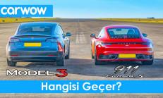 Hangisi Geçer? Tesla Model 3 Performance – Porsche 911 Carrera S