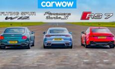 Hangisi Geçer? Bentley Flying Spur – Audi RS7 – Porsche Panamera Turbo S