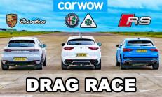Hangisi Geçer? Audi RS Q3 Sportback – Alfa Romeo Stelvio Quadrifoglio – Porsche Macan Turbo