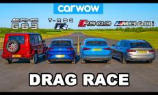 Hangisi Geçer? Audi RS Q3 – BMW M340i – Mercedes-AMG G63 – VW T-Roc R