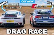 Hangisi Geçer? 716 Beygirlik Audi RS3 – Porsche 911 Turbo S