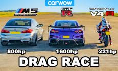 Hangisi Geçer? BMW M5 – Nissan GT-R – Ducati V4R
