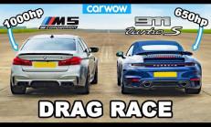 Hangisi Geçer? 1000 Beygirlik BMW M5 – Porsche 911 Turbo S