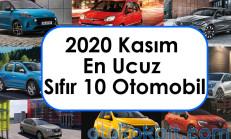 2020 Kasım En Ucuz Sıfır 10 Otomobil
