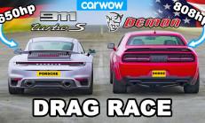 Hangisi Geçer? Dodge Challenger Demon – Porsche 911 Turbo S