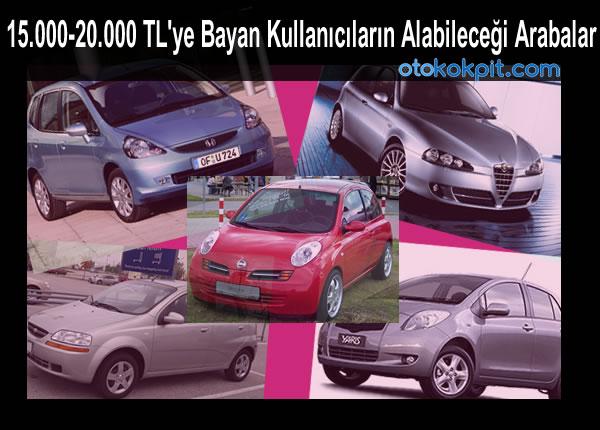15 000 20 000 Tl Ye Bayan Kullanicilarin Alabilecegi Arabalar Oto Kokpit