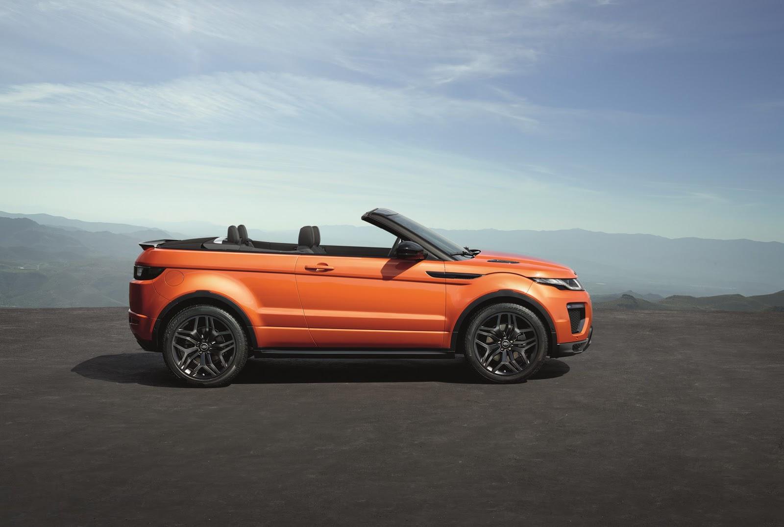2016 range rover evoque convertible teknik zellikleri ve. Black Bedroom Furniture Sets. Home Design Ideas