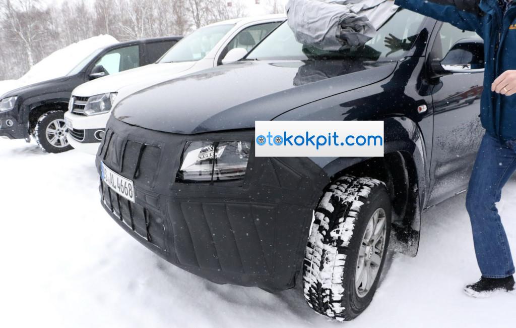 Makyajlı 2017 Yeni Volkswagen Amarok İsveç'te Yakalandı