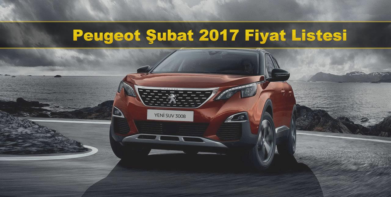 Peugeot Şubat 2017 Fiyat Listesi