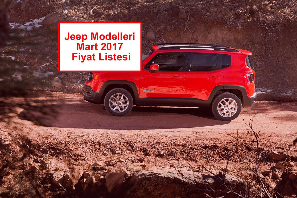 Jeep Mart 2017 Fiyat Listesi