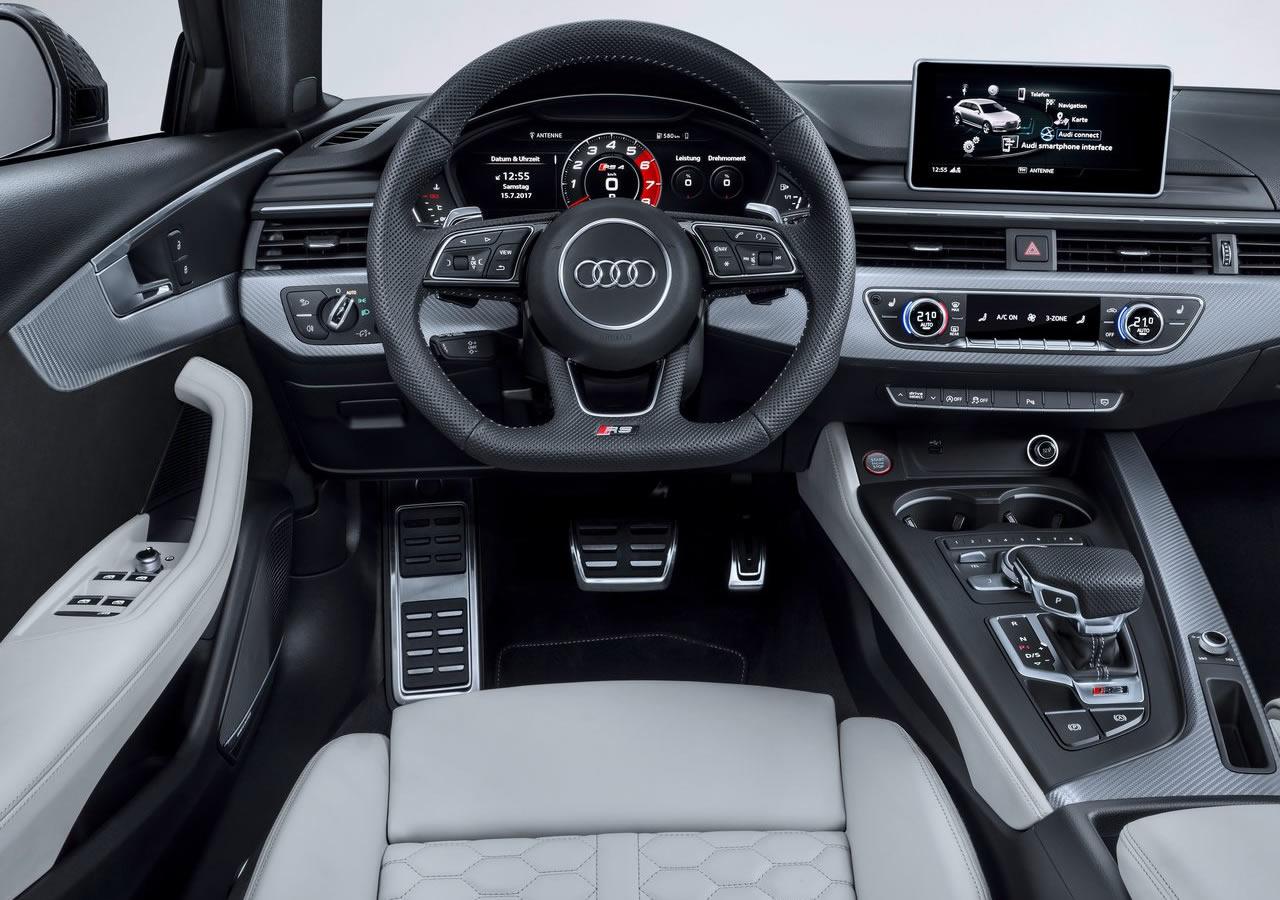 2018 Yeni Kasa Audi RS4 Kokpiti