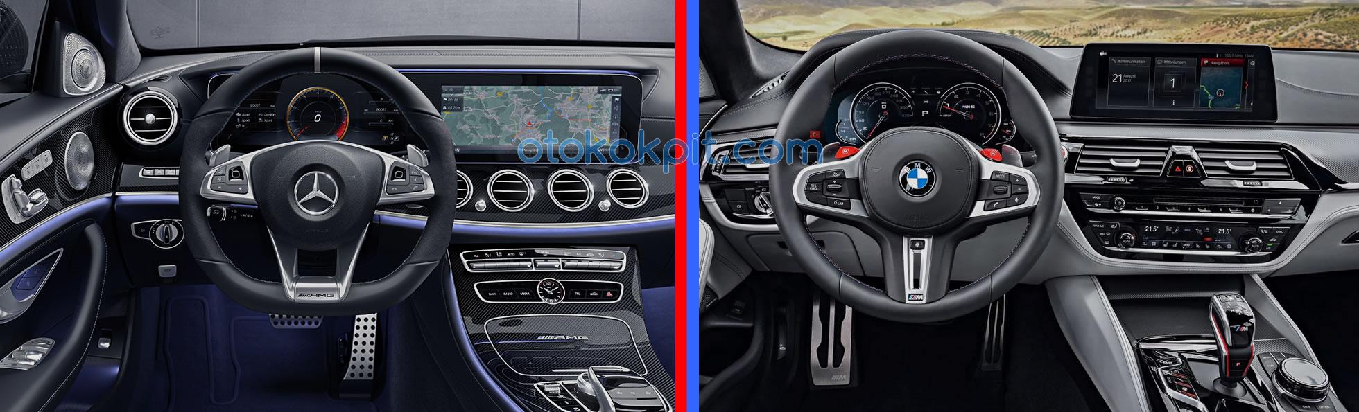 BMW M5 (F90) - Mercedes-AMG E63 S Kokpitleri