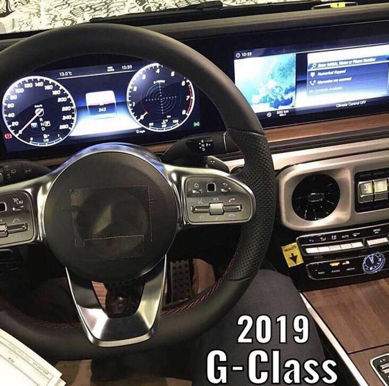 2019 Yeni Kasa Mercedes G Serisi Kokpiti