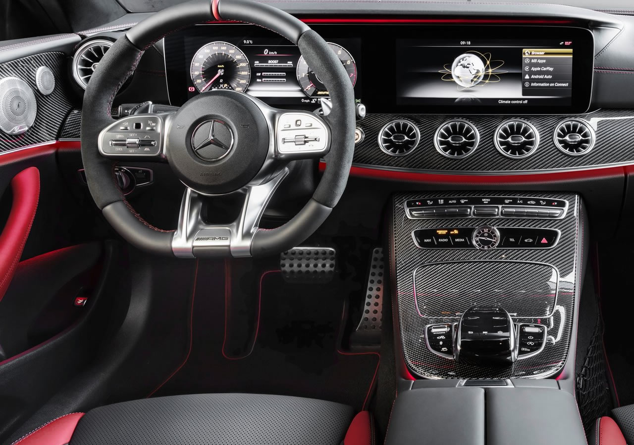 2019 Yeni Mercedes-Benz E53 AMG Coupe Kokpiti