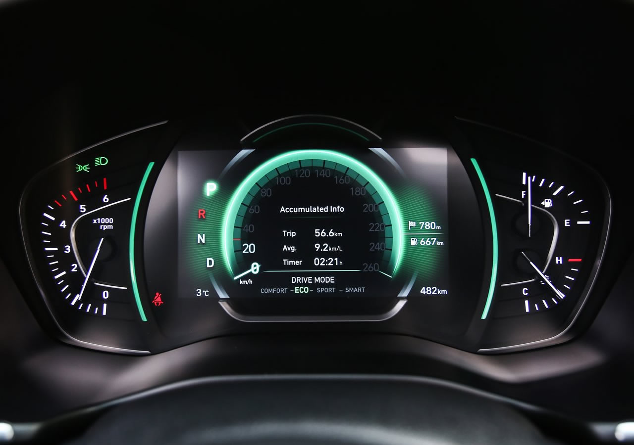 2019 Yeni Kasa Hyundai Santa Fe Head Up Display