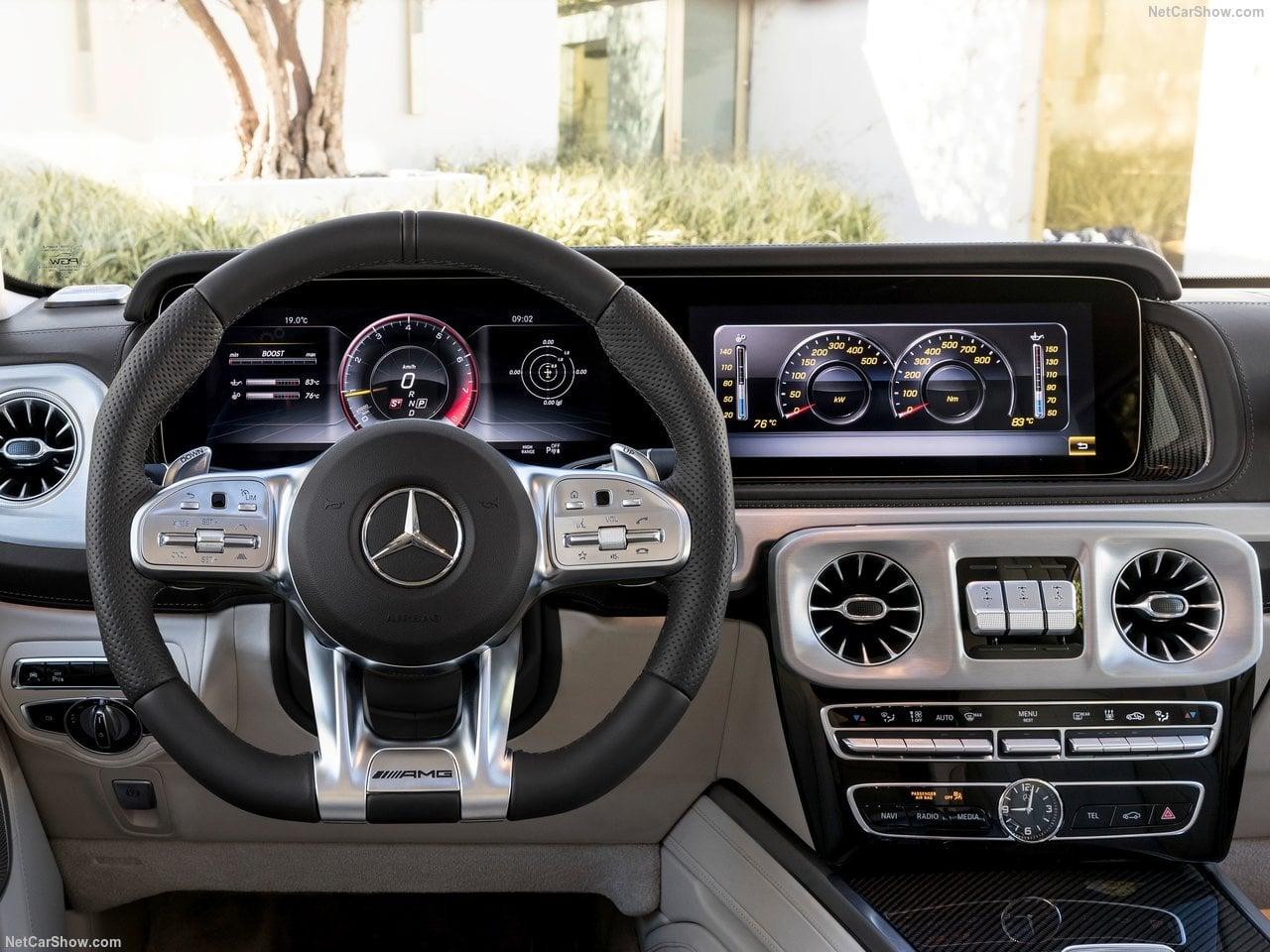 2019 Yeni Kasa Mercedes-AMG G63 Kokpiti