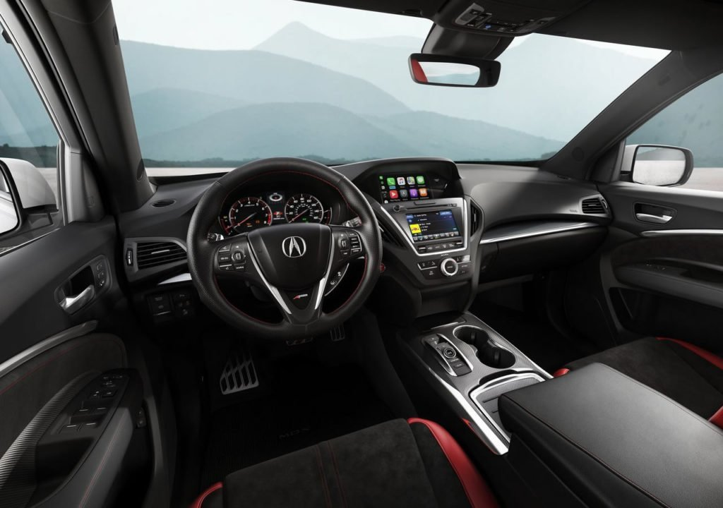 2019 Yeni Acura MDX A-Spec Kokpiti
