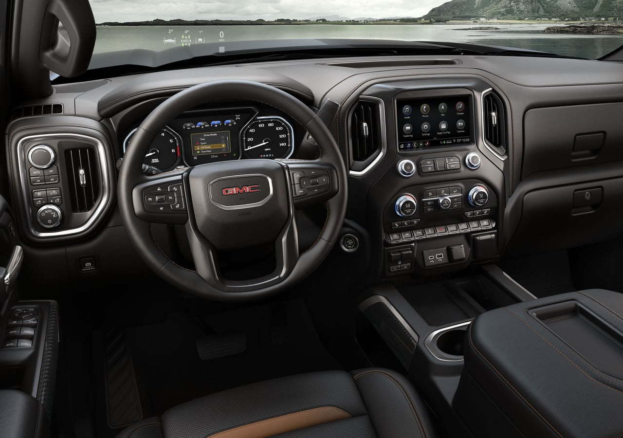2019 Yeni GMC Sierra AT4 Kokpiti