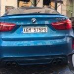 Sıra Dışı BMW X6M Plakaları
