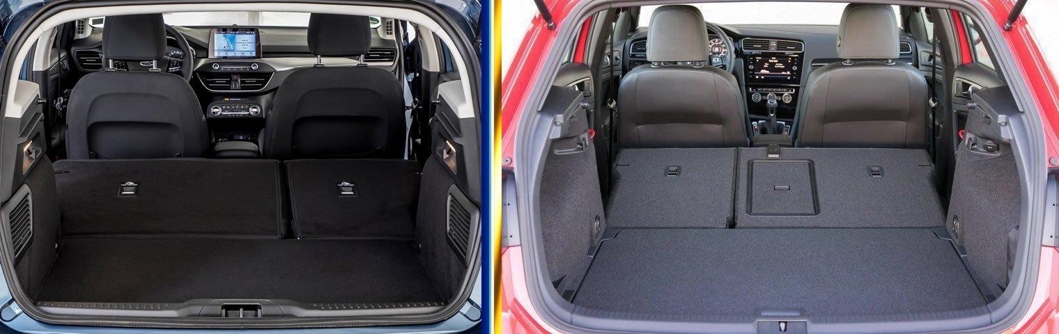Yeni Kasa Ford Focus (MK4) - VW Golf 7.5 Bagaj Hacmi Karşılaştırması