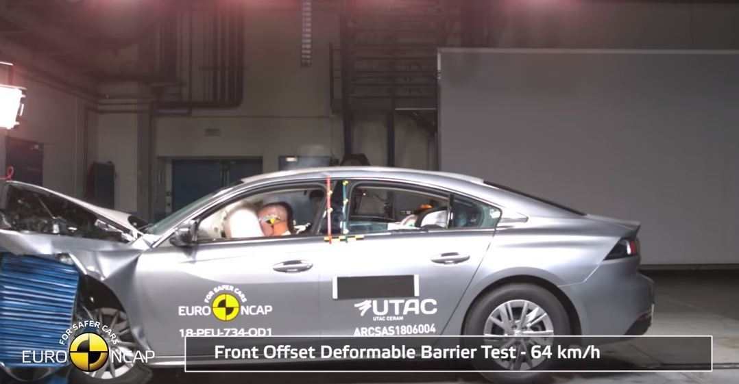 2018 Peugeot 508, Euro NCAP Çarpışma Testi