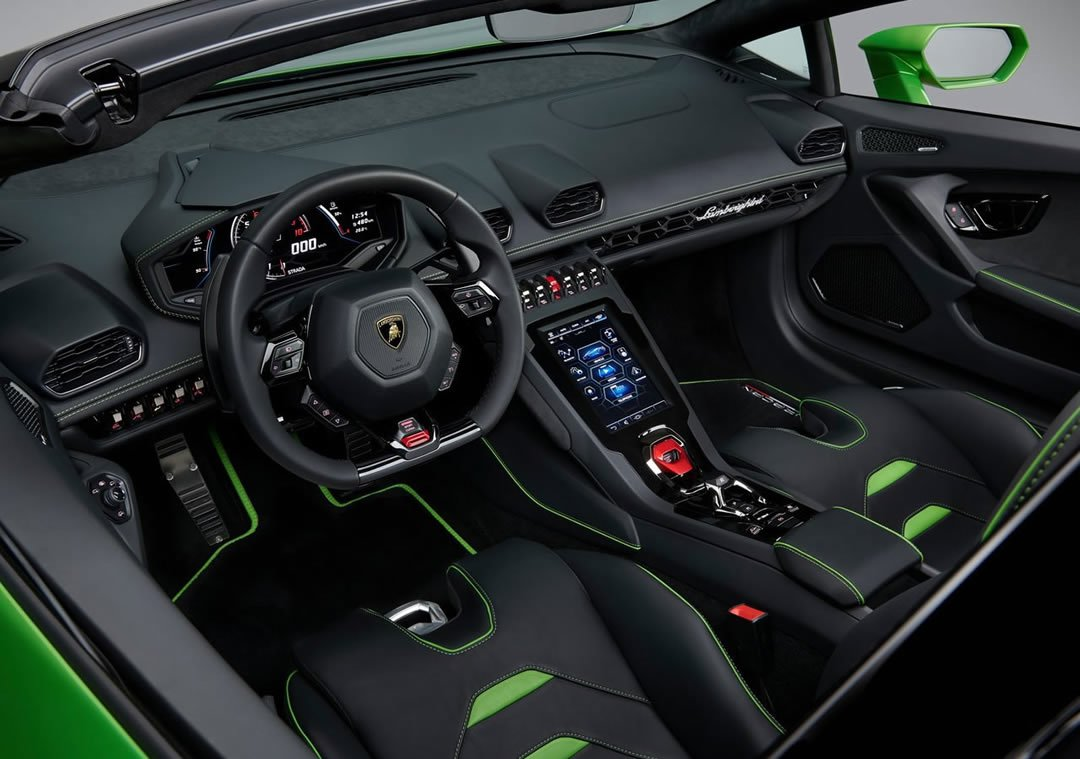 2019 Lamborghini Huracan Evo Spyder Kokpiti