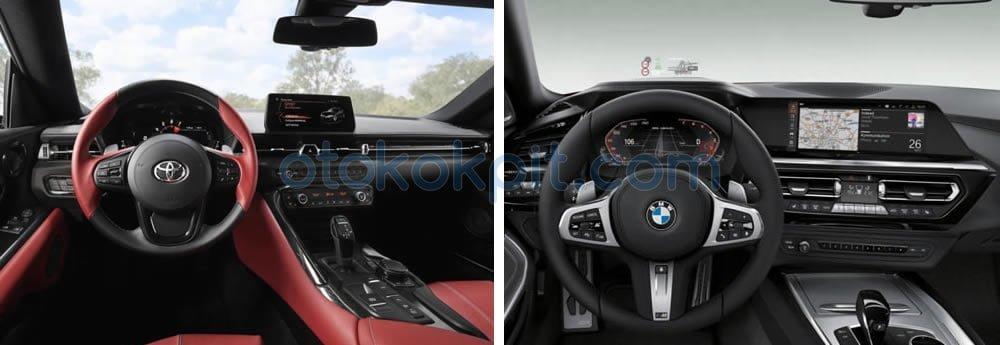 Yeni Toyota Supra - BMW Z4 M40i İç Tasarım