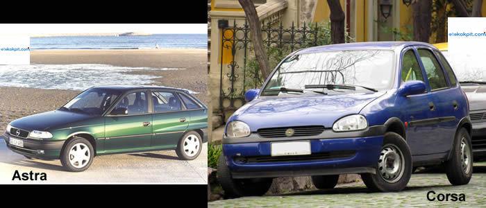 Opel Corsa ve Astra