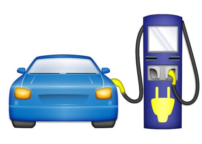 Elektrikli Otomobil Emojisi