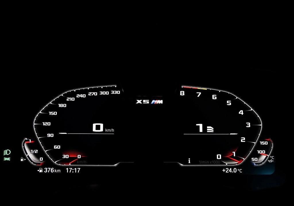 2020 BMW X5 M Competition Kadranı