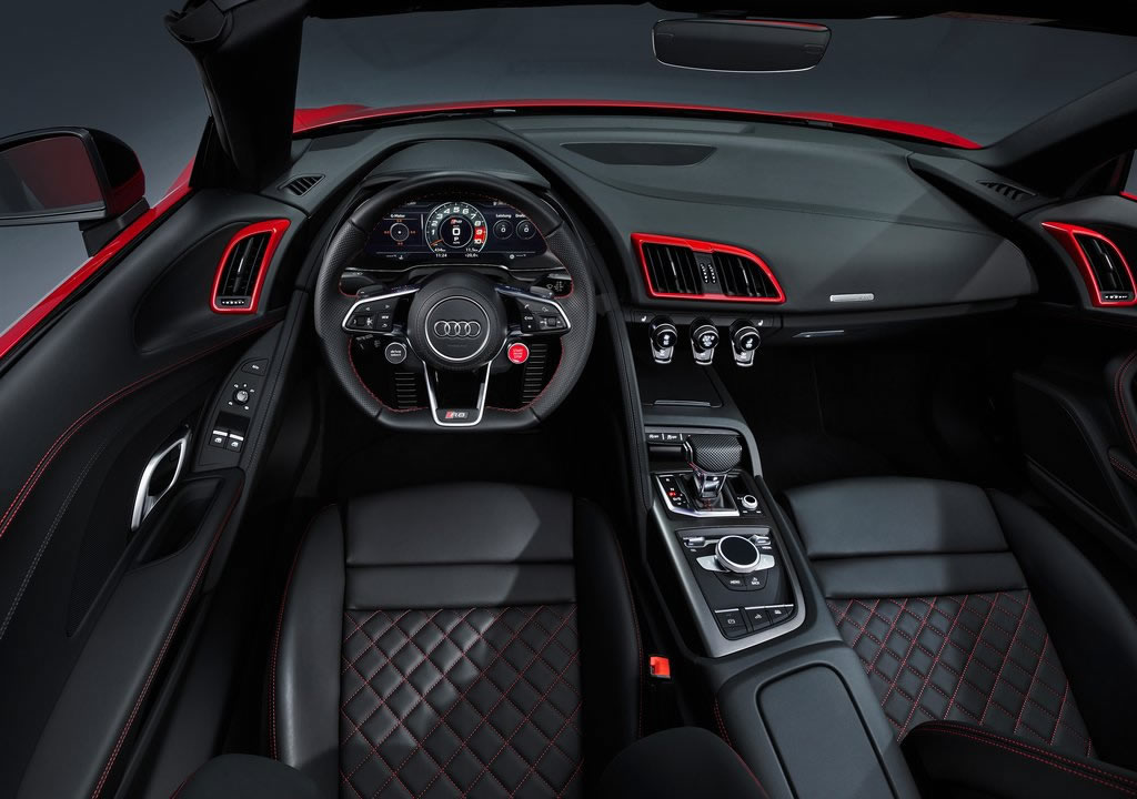 2020 Audi R8 V10 RWD Spyder Kokpiti