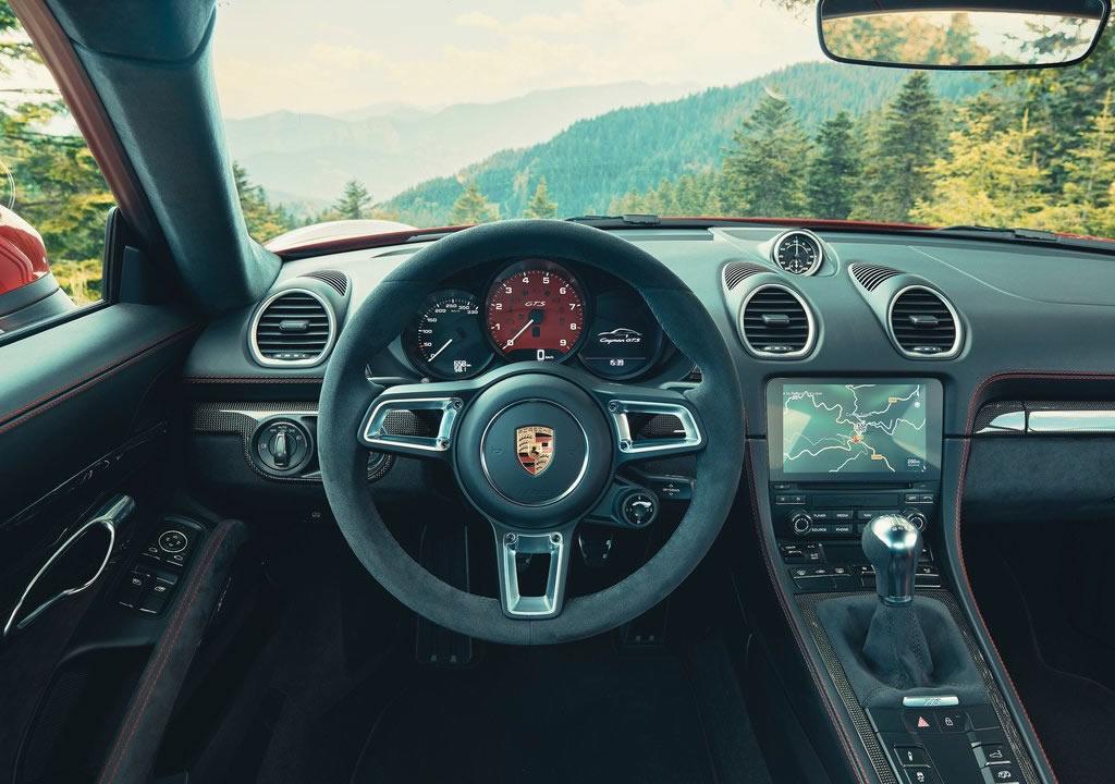 2020 Yeni Porsche 718 Cayman GTS 4.0 Kokpiti